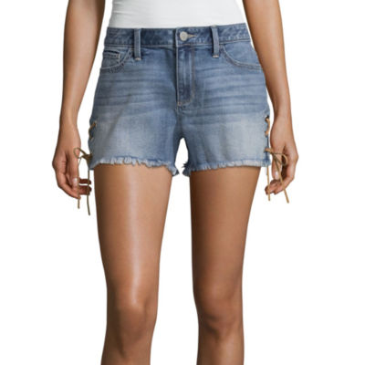 "a.n.a Lace Up Cut Off Shorts (3 1/2"")"