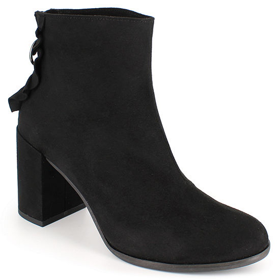 Dolce By Mojo Moxy Womens Sassy Dress Boots Block Heel Zip