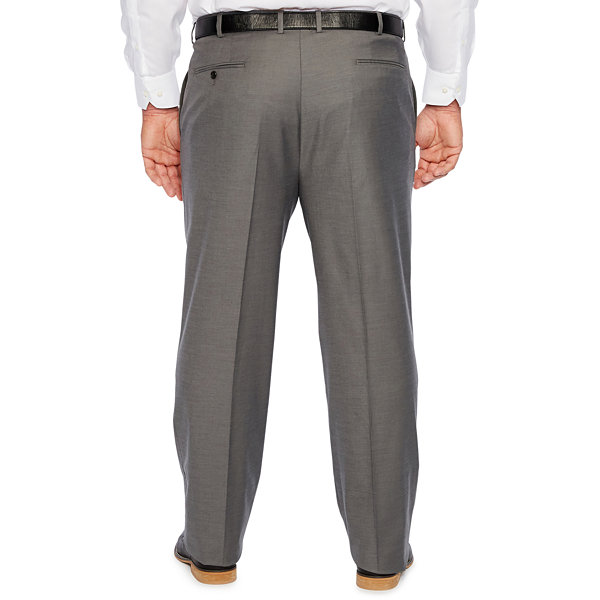 JF J.Ferrar Gray Sharkskin Stretch Suit Pants - Big and Tall