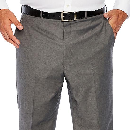 JF J.Ferrar Gray Sharkskin Mens Stretch Regular Fit Suit Pants - Big and Tall