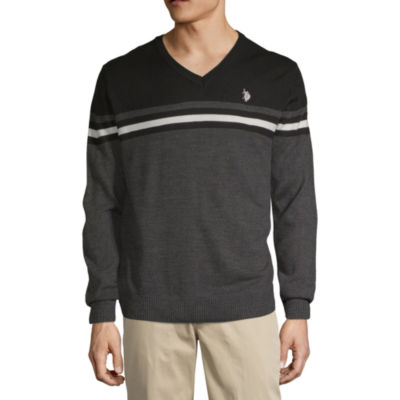 U.S. Polo Assn. V Neck Long Sleeve Pullover Sweater