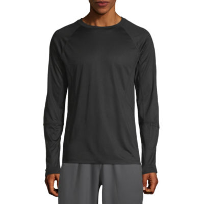 Xersion Mens Crew Neck Long Sleeve Moisture Wicking T-Shirt