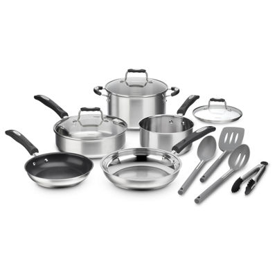 Cuisinart 12-Pc. Cookware Set Stainless Steel Sauce Pan