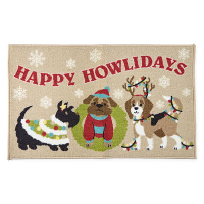 North Pole Trading Co. Happy Howlidays Rectangular Rug