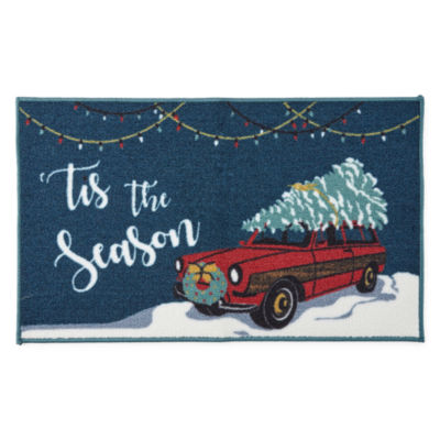 North Pole Trading Co. Tis The Season Rectangular Rug