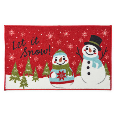North Pole Trading Co. Let It Snow Rectangular Rug