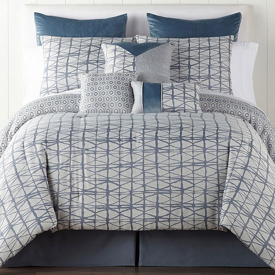 JCPenney Home Springfield 7 Pc Jacquard Midweight