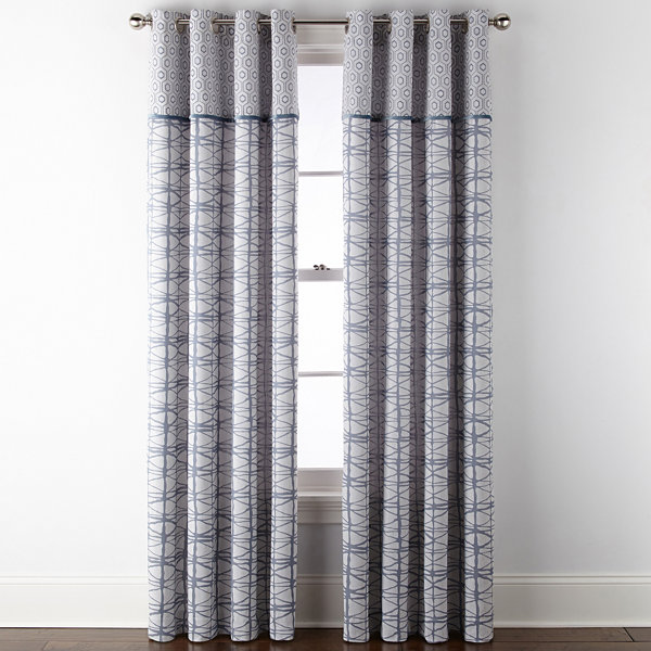 JCPenney Home Springfield 2-Pack Grommet-Top Curtain Panel