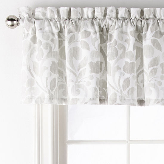 Home Expressions Ellis Rod-Pocket Tailored Valance