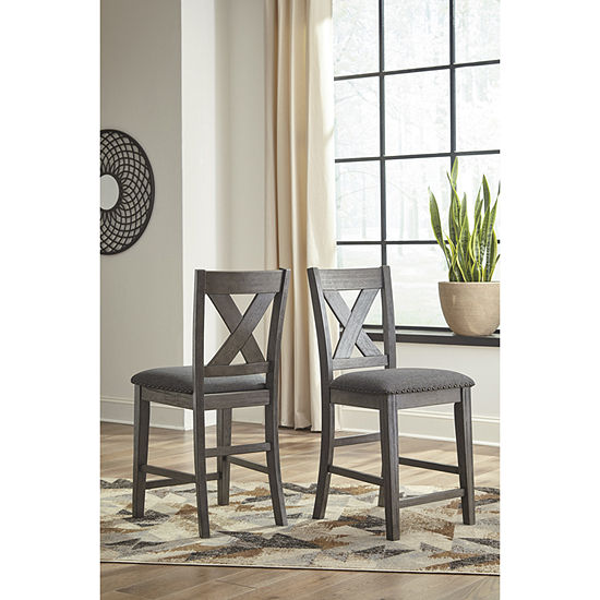 Signature Design by Ashley® Caitir Set of 2 Upholstered Barstools