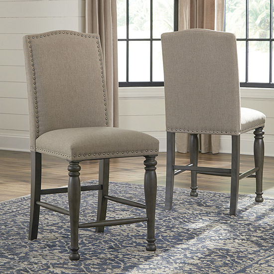 Signature Design by Ashley® Audberry Set of 2 Upholstered Barstools