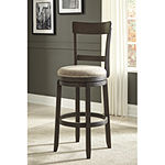 Signature Design by Ashley® Drewing Set of 2 Upholstered Swivel Barstools