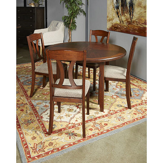 Signature Design By Ashley Charnalo 5 Piece Round Dining Table And