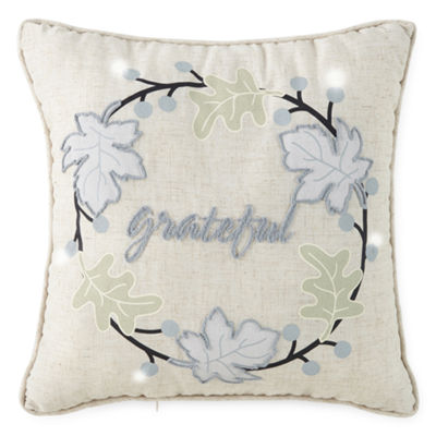 JCPenney Home Grateful Led Square Throw Pillow