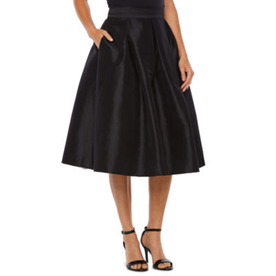 Ronni Nicole Womens High Waisted Midi Pleated Skirt