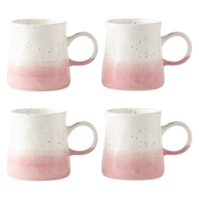 Peyton & Parker Set of 4 Colorblock Coffee Mug