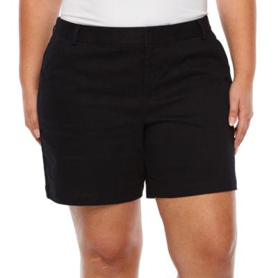 "Boutique + 7"" Twill Shorts - Plus"