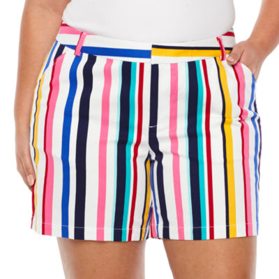 "Boutique + Stripe 7"" Twill Shorts - Plus"