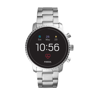 Fossil Q Gen 4 Mens Silver Tone Smart Watch-Ftw4011