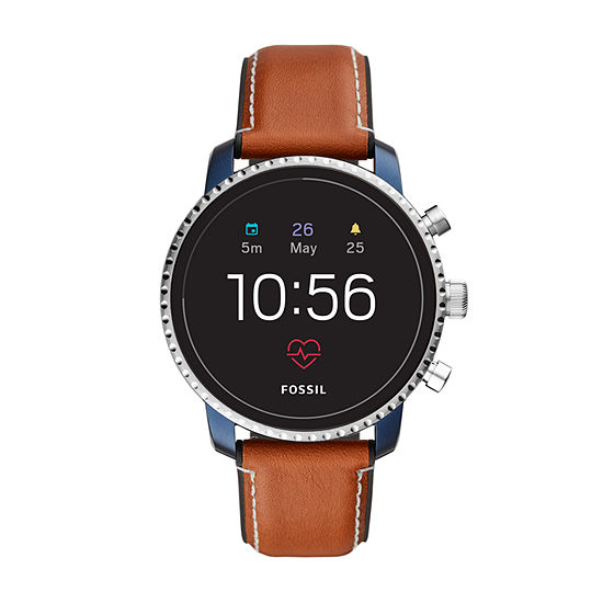 Fossil Q Gen 4 Mens Brown Smart Watch-Ftw4016