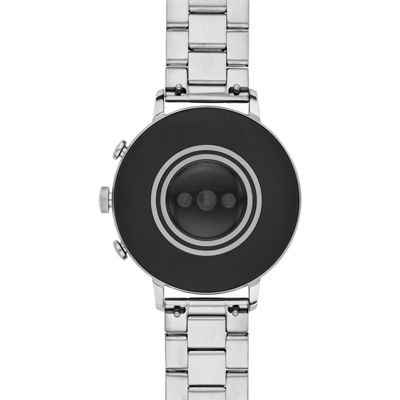 Fossil Q Gen 4 Womens Silver Tone Smart Watch-Ftw6017