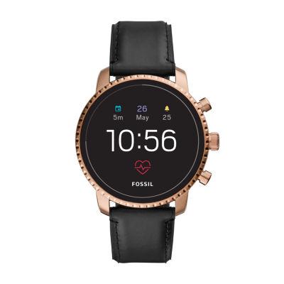 Fossil Q Gen 4 Mens Black Smart Watch-Ftw4017