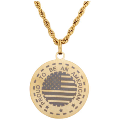"""English Laundry """"Proud To Be An American"""" 26 Inch Chain Necklace"""
