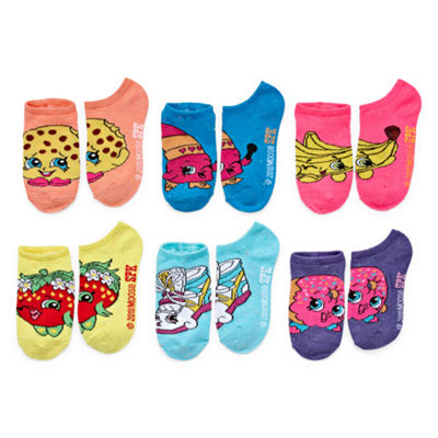 Girls License 6 Pair No Show Socks