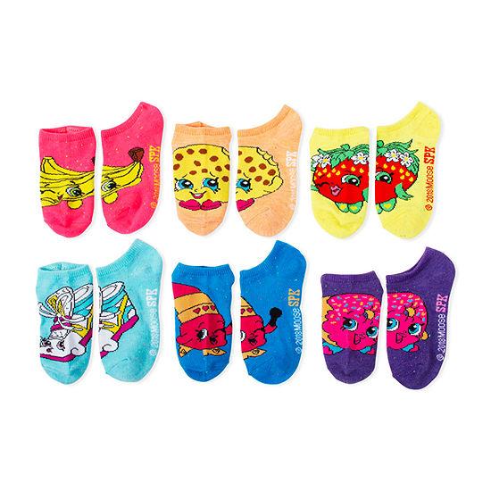 Girls License 6 Pair No Show Socks