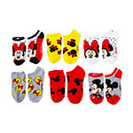 Girls License 6 Pair Minnie Mouse No Show Socks