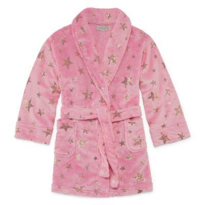 Girls Fleece Robe Long Sleeve Mid Length