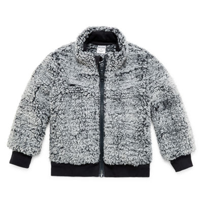 Okie Dokie Sherpa Full Zip-Toddler Boys