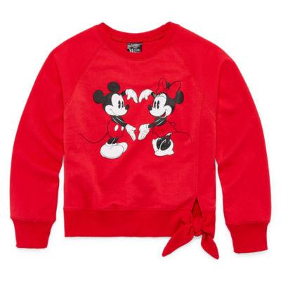 Disney Long Sleeve Minnie Mouse Panel Sweatshirt Girls