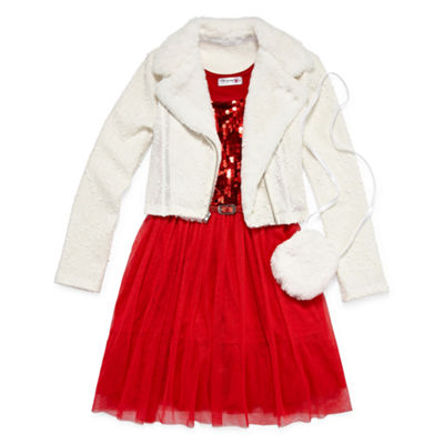 Knit Works 2-pc. Jacket Dress Girls