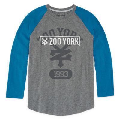 Zoo York Boys Crew Neck Long Sleeve T-Shirt-Big Kid