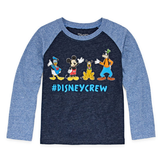Disney Graphic Long Sleeve T-Shirt-Toddler Boys