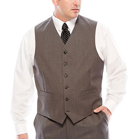 1920s Style Mens Vests Stafford Travel Suit Vest - Big  Tall Fit 3x-large  Gray $38.99 AT vintagedancer.com