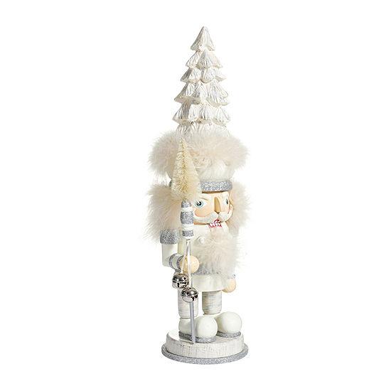 Kurt Adler 17.5-Inch Hollywood™ Weathered White Tree Christmas Nutcracker