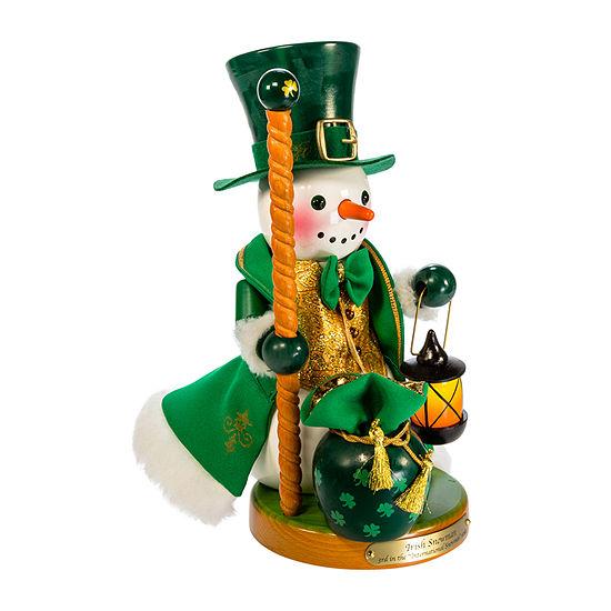 Kurt Adler 12.5-Inch Steinbach Irish Snowman Christmas Nutcracker