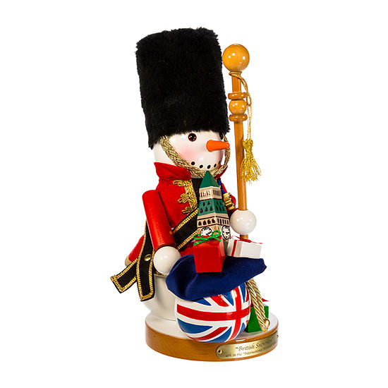 Kurt Adler 13.25-Inch Steinbach Great Britain Snowman Christmas Nutcracker