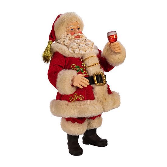Kurt Adler 10.5-Inch Fabriché™ Wine Tasting Santa Figurine
