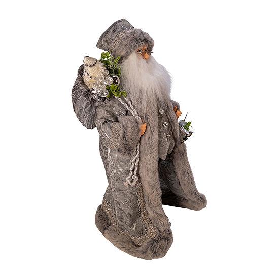 Kurt Adler 18-Inch Kringle Klaus Silver Santa Figurine