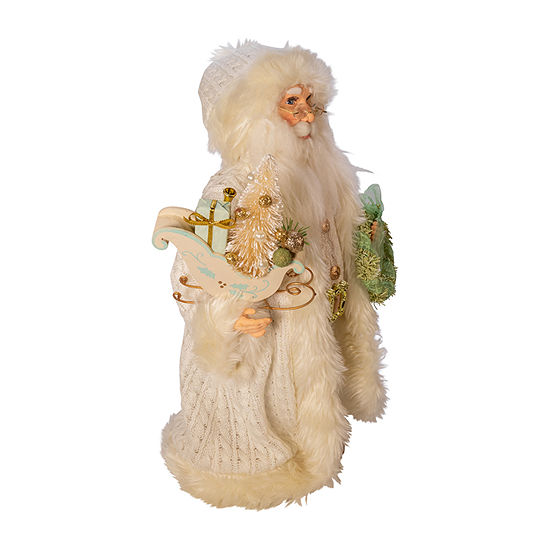 Kurt Adler 18-Inch Kringle Klaus Winter White Santa Figurine