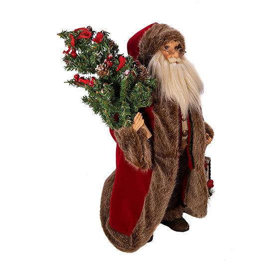 Kurt Adler 18-Inch Kringle Klaus Red And Green Santa Figurine