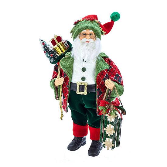 Kurt Adler 18-Inch Kringle Klaus Red And Green  And Gifts Santa Figurine