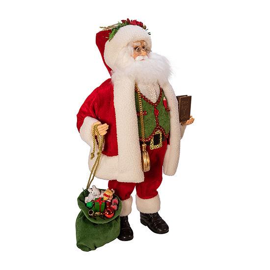 Kurt Adler 18-Inch Kringle Klaus Red; Green; White Santa Figurine