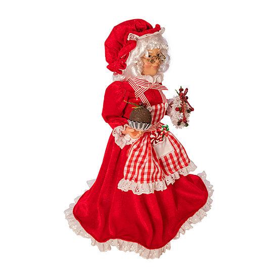 Kurt Adler 16.5-Inch Kringle Klaus Mrs. Claus With Apron Santa Figurine