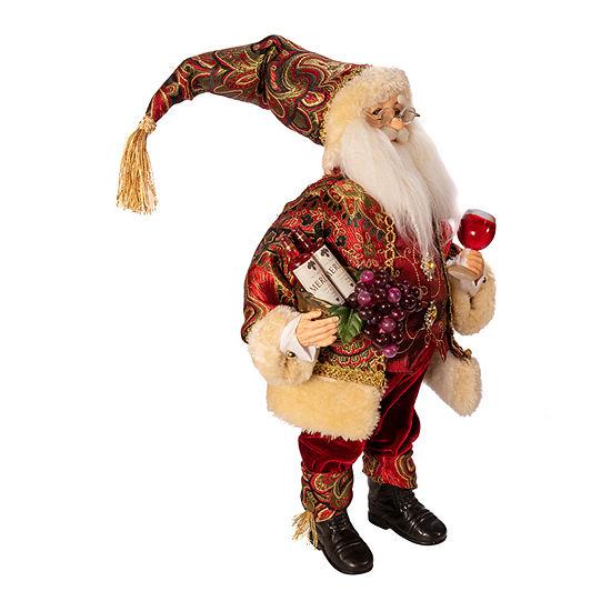 Kurt Adler 18-Inch Kringle Klaus Wine Santa Figurine