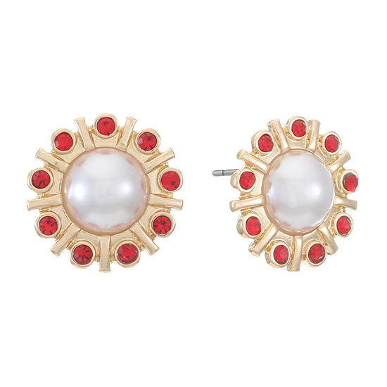 Monet Jewelry Red 18mm Stud Earrings