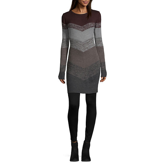 Byer California-Juniors Long Sleeve Sweater Dress
